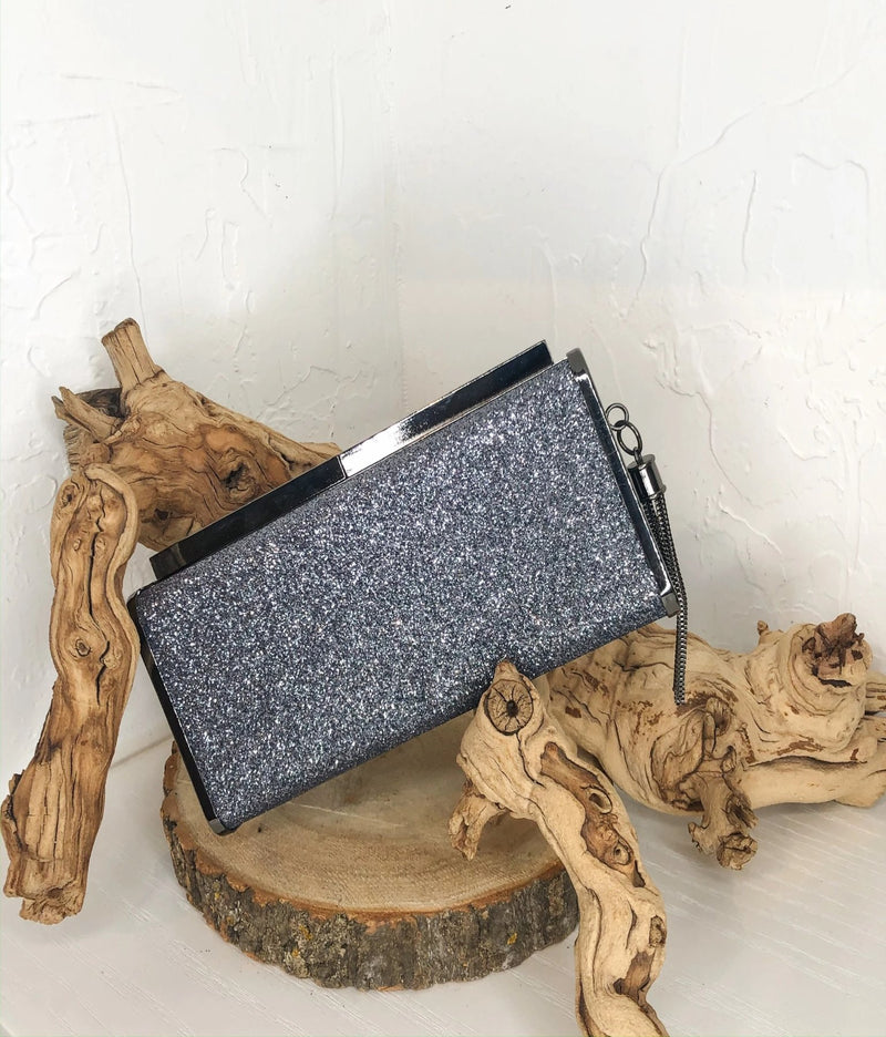 Demi Clutch - Gun Metal