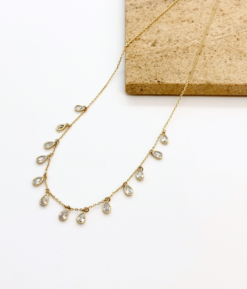 Drop CZ Necklace