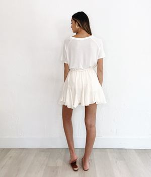 Millie Mini Skirt in Ivory