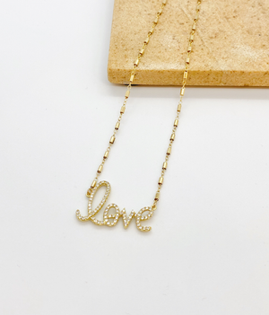 CZ Love Necklace