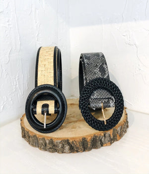 Black Leopard Belt