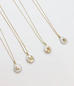 Initial Pearl Necklaces