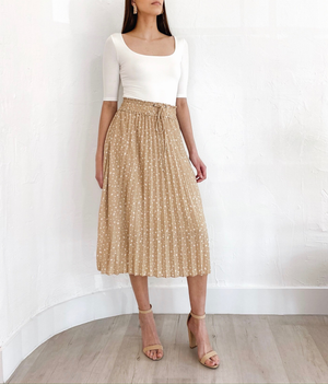 Nola Skirt in White Dot