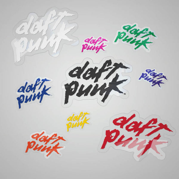 Daft Punk Multi-Color Logo Sticker Pack