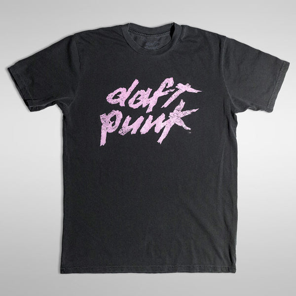 The Daft Punk Vintage Style Pink Logo T-Shirt