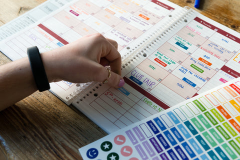 academic planner student stickers