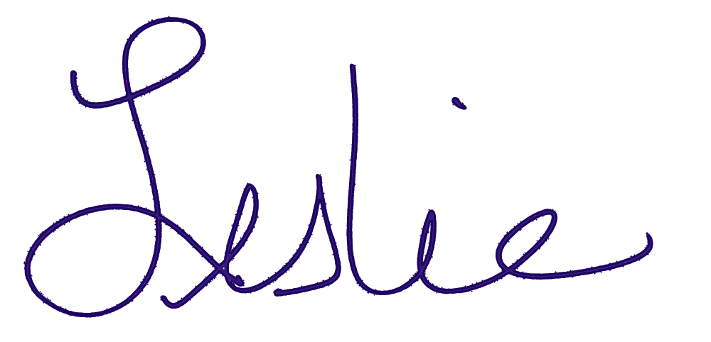 Signed by Leslie