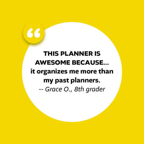 what students are saying about the Academic Planner: A Tool For Time Management®