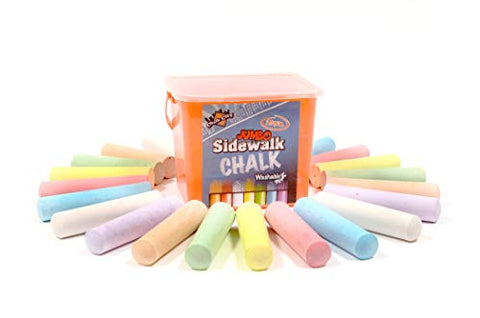 Regal Games Chalk City - 20 Piece Jumbo Washable Sidewalk Chalk