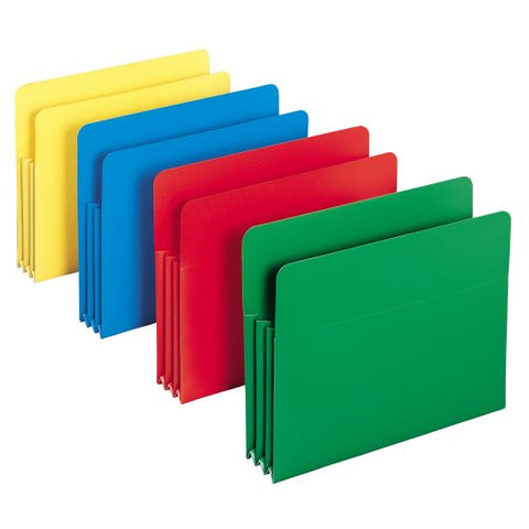 "Smead Poly File Pocket, 3-1/2"" Expansion, Letter Size"