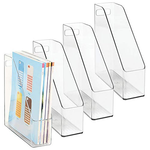 mDesign Plastic File Folder Bin Storage Organizer