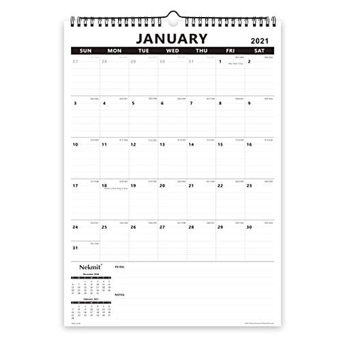 2021 Yearly Monthly Wall Calendar