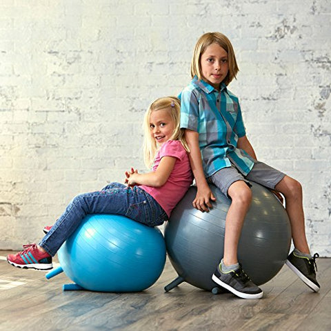 Tremendous Gaiam Kids Stay N Play Childrens Balance Ball Flexible School Chair Active Classroom Desk Seating With Stay Put Stability Legs Includes Air Pump Caraccident5 Cool Chair Designs And Ideas Caraccident5Info