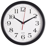 Bernhard Products Black Wall Clock, Silent Non Ticking