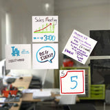 mcSquares Stickies - Reusable, Dry-Erase, Adhesive-Free Stickers