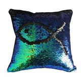Reversible Color Change Sequin Throw Pillow Cases