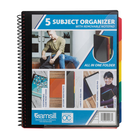 5 SUBJECT ALL-IN-ONE SCHOOL ORGANIZER with Removable Notepad