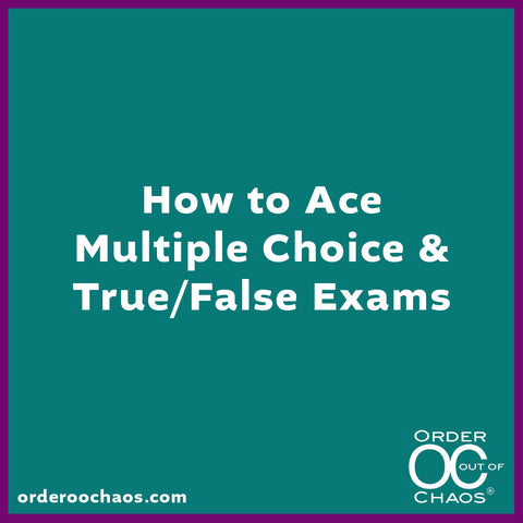 ONLINE VIDEO: How to Ace Multiple Choice & True/False Exams