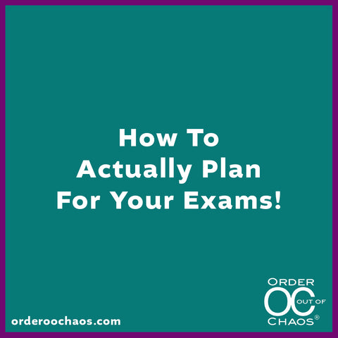 ONLINE VIDEO: How To Actually Plan For Your Exams!