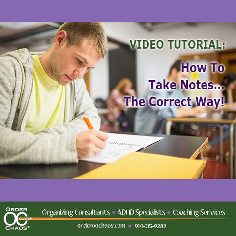 VIDEO DOWNLOAD: How To Take Notes…The Correct Way!