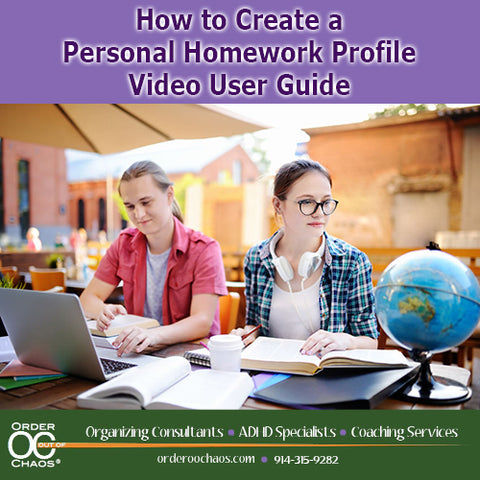 VIDEO DOWNLOAD: How To Create a Personal Homework Profile™ Video User Guide