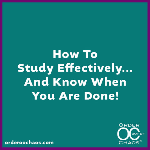 ONLINE VIDEO: How To Study Effectively...And Know When You Are Done!