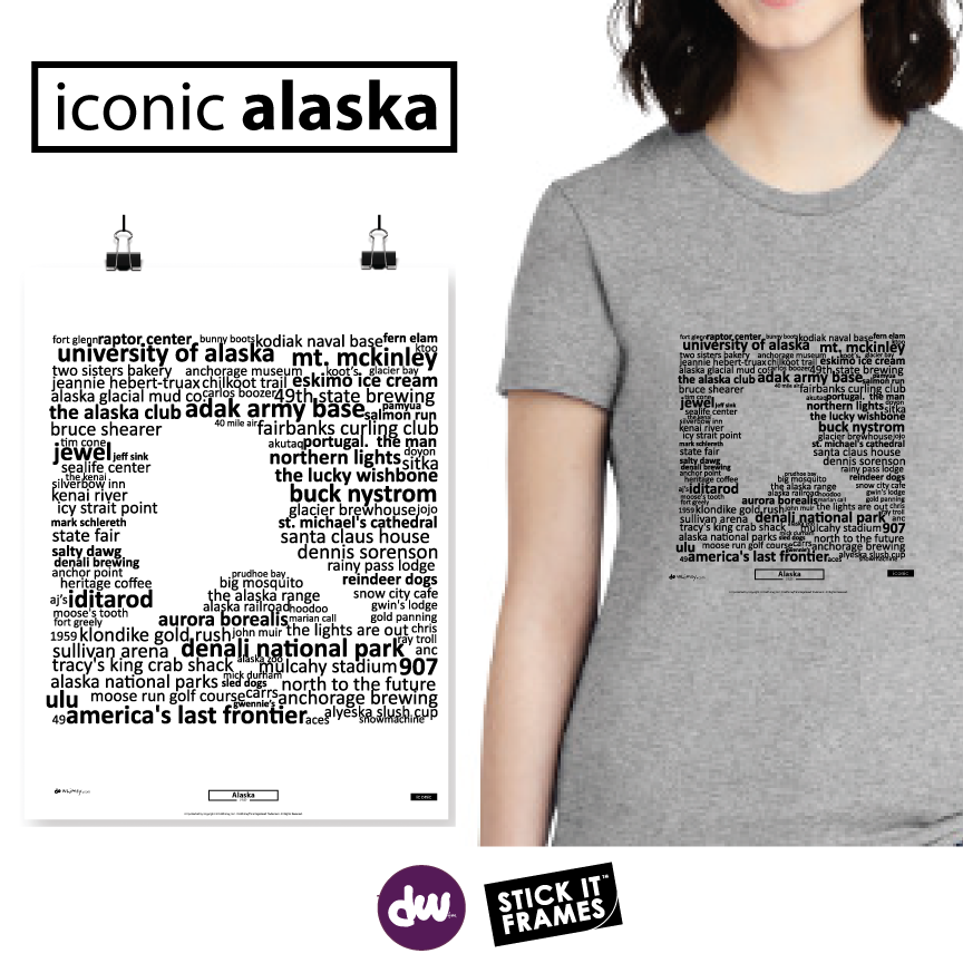 Iconic Alaska - All Products (Shirt, Art, Frames (R))
