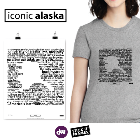 Alaska - Iconic (Shirt, Art, Frames)