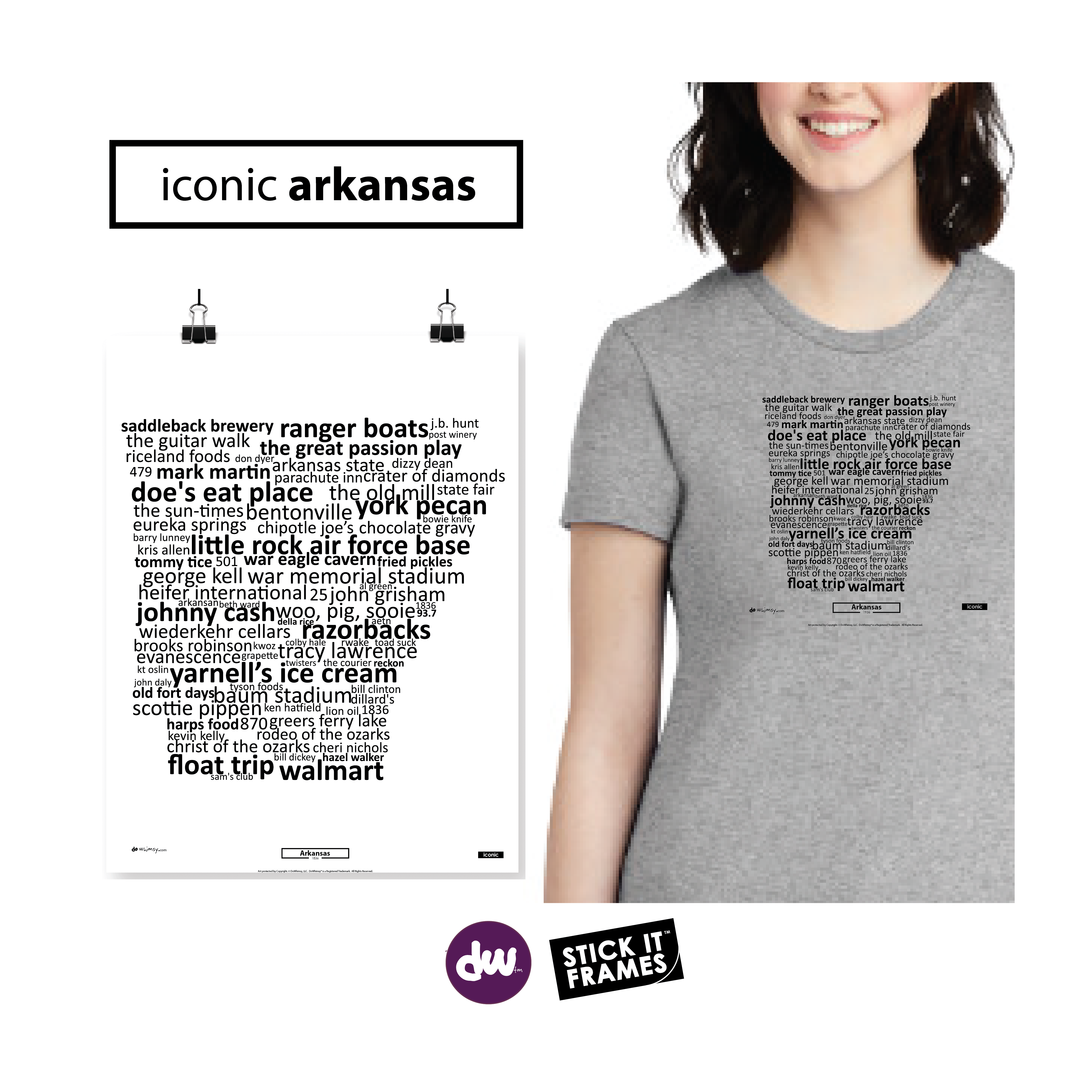 Iconic Arkansas - All Products (Shirt, Art, Frames (R))