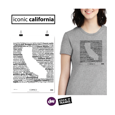 Iconic California - All Products (Shirt, Art, Frames (R))