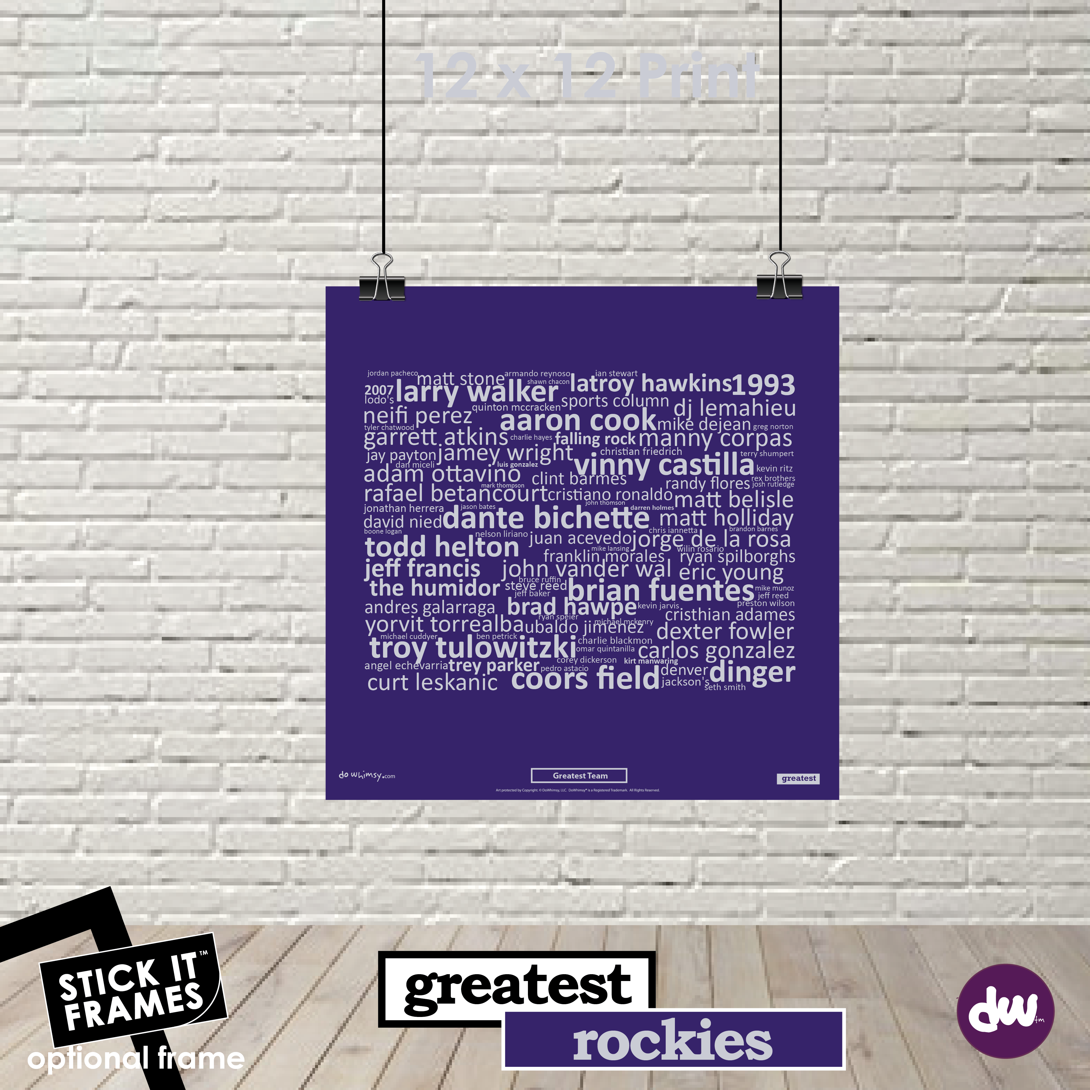 Greatest Colorado (Rockies) - All Products (Shirt, Art, Frames (R))