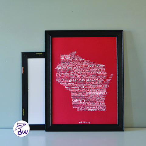 WI | White & Red - Prints & Framed Prints
