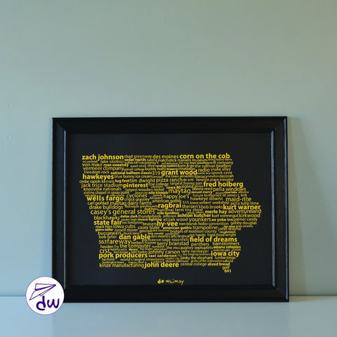 IA | Gold & Black - Prints & Framed Prints