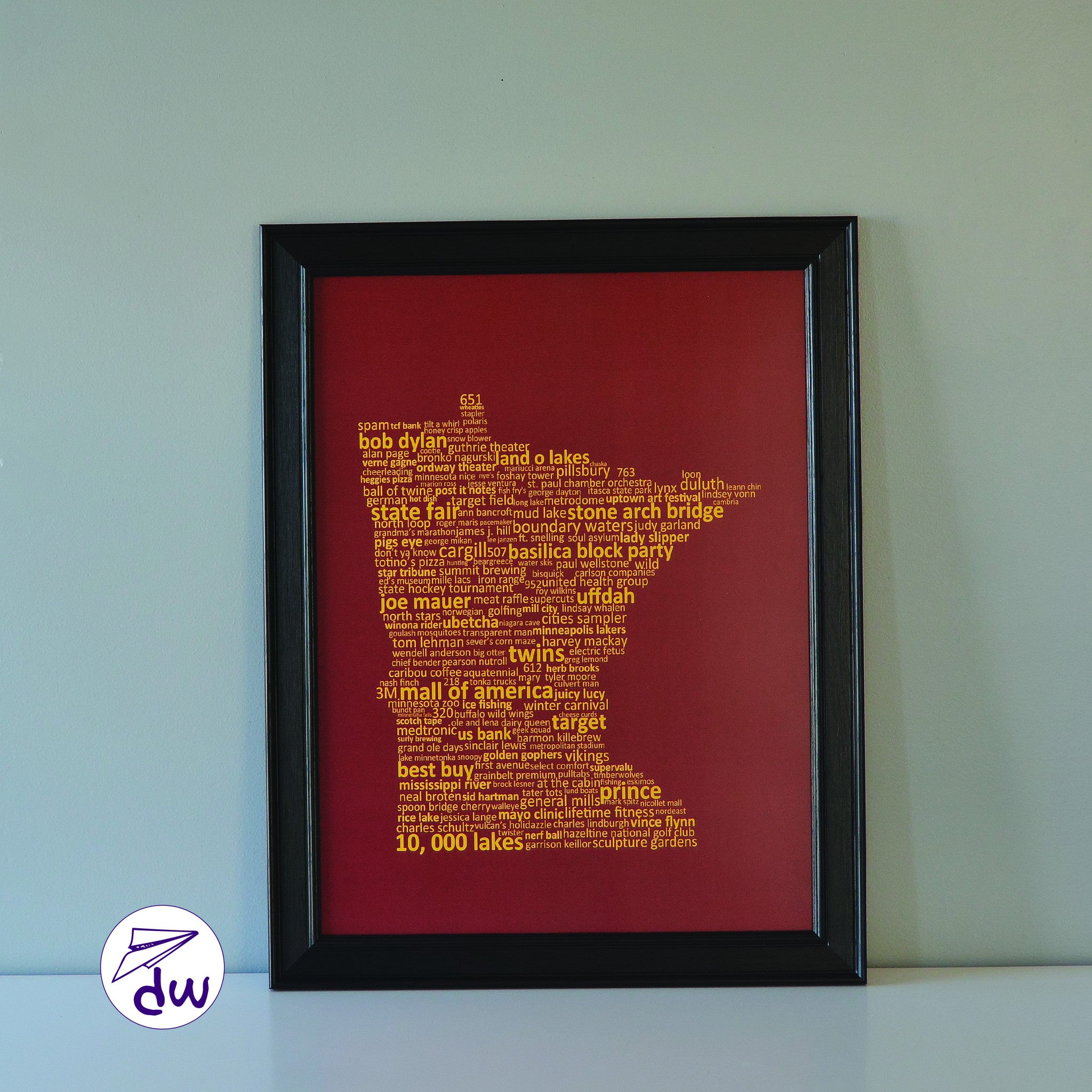 MN | Gold & Maroon - Prints & Framed Prints