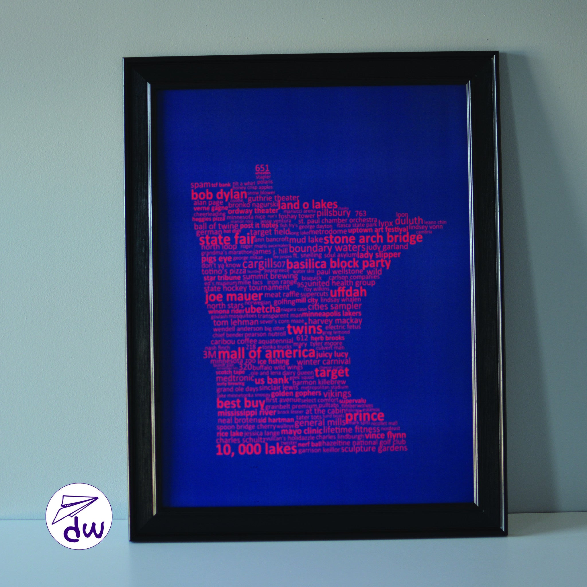 MN | Red & Blue - Prints & Framed Prints