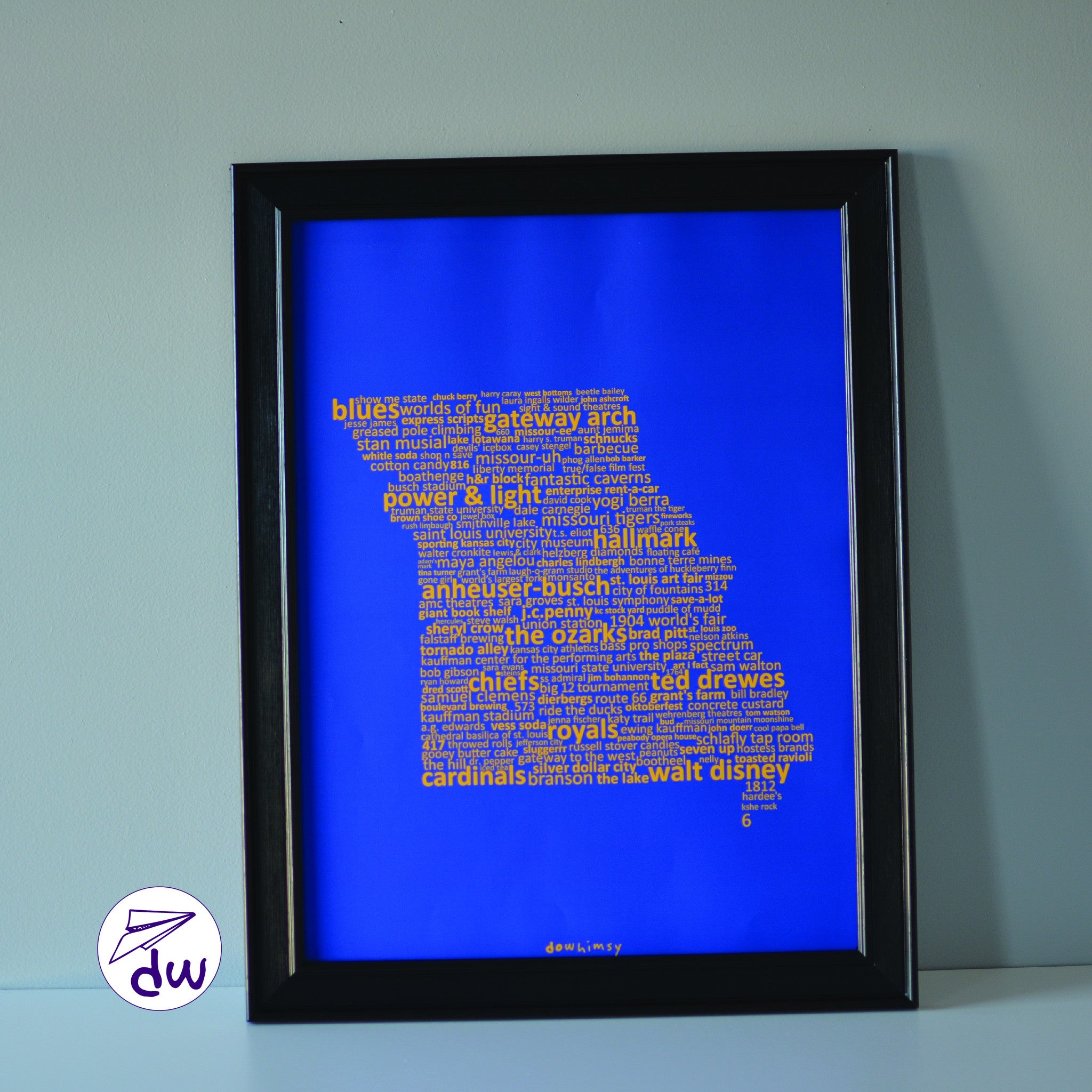 MO | Yellow & Blue - Prints & Framed Prints