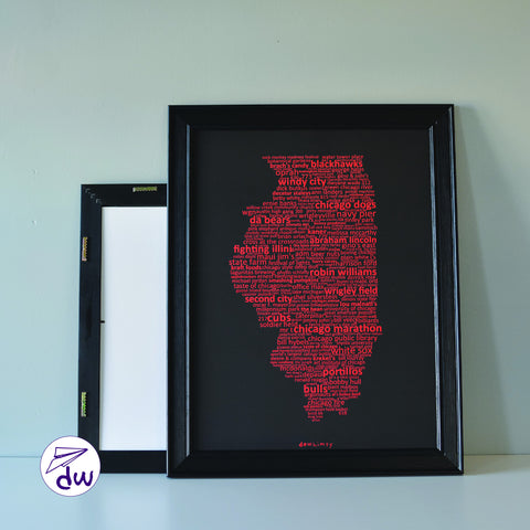 IL | Red & Black - Prints & Framed Prints