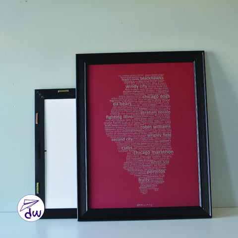 IL | Soft Gray & Maroon - Prints & Framed Prints