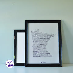 MN | Black & Soft Gray - Prints & Framed Prints