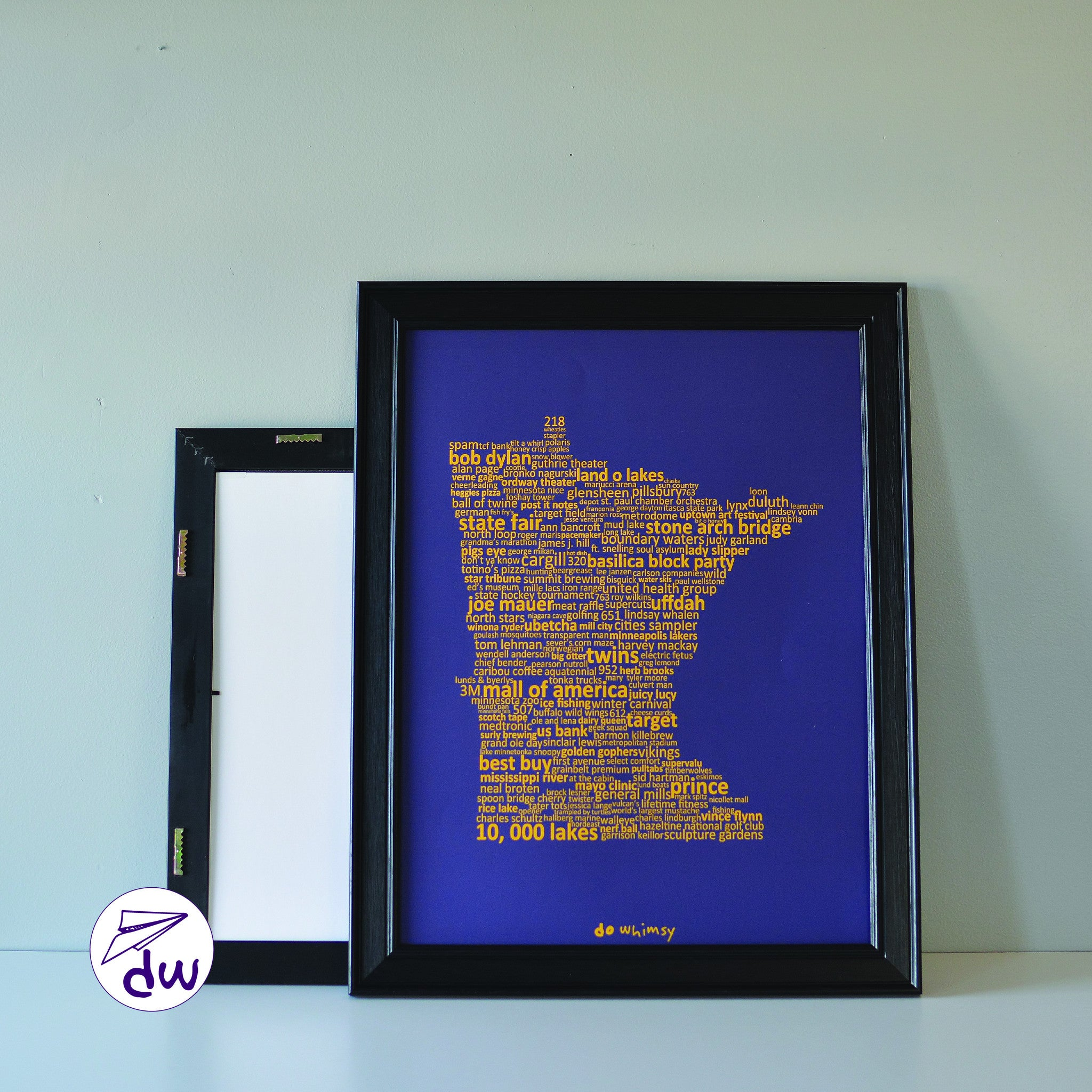MN | Gold & Purple - Prints & Framed Prints