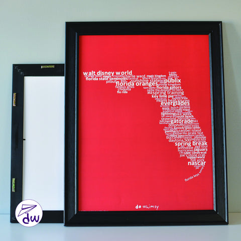 FL | White & Red - Prints & Framed Prints