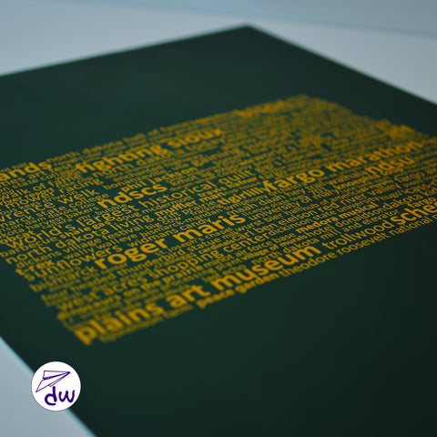 ND | Gold & Green - Prints & Framed Prints