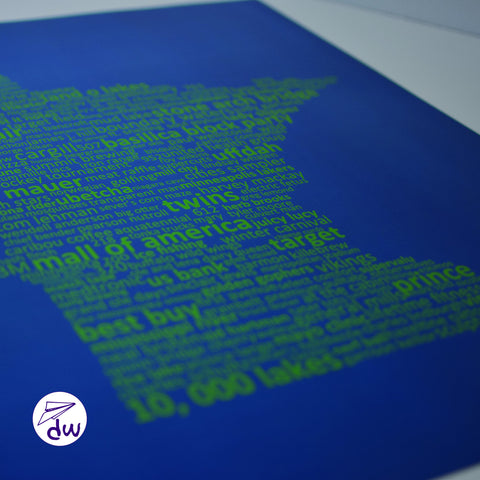 MN | Green & Blue - Prints & Framed Prints