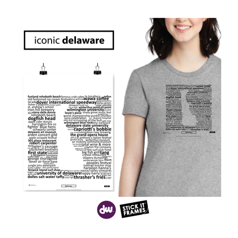 Iconic Delaware - All Products (Shirt, Art, Frames (R))