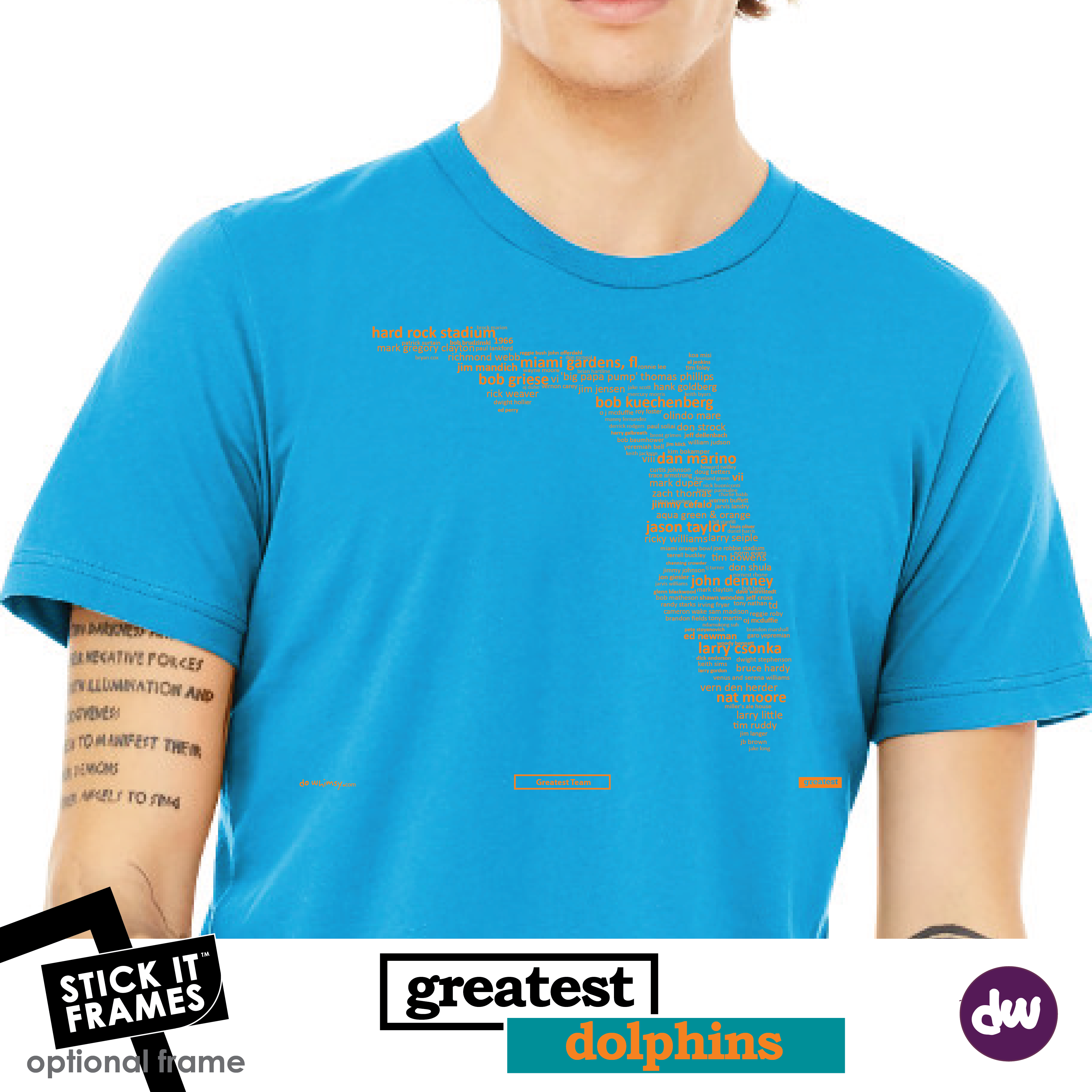Greatest Florida (Dolphins) - All Products (Shirt, Art, Frames (R))