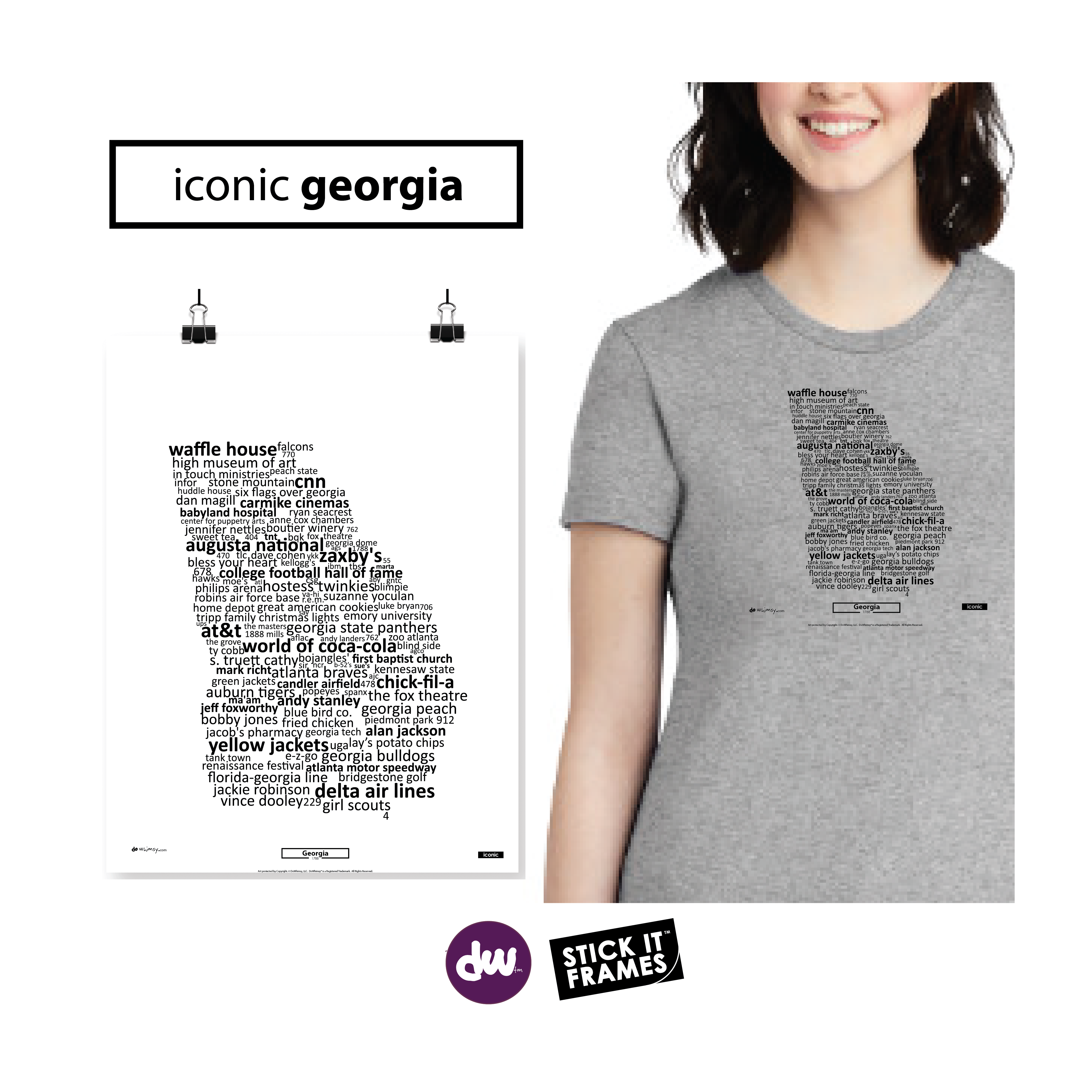 Iconic Georgia - All Products (Shirt, Art, Frames (R))
