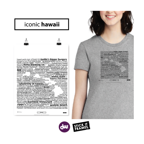 Iconic Hawaii - All Products (Shirt, Art, Frames (R))