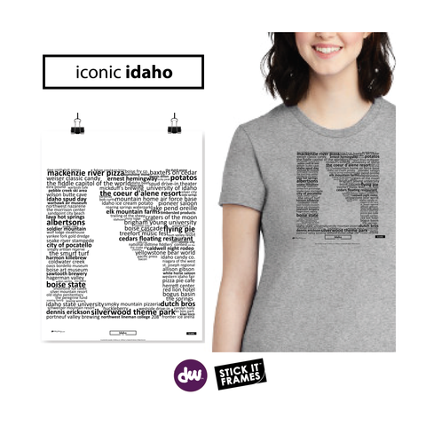 Iconic Idaho - All Products (Shirt, Art, Frames (R))