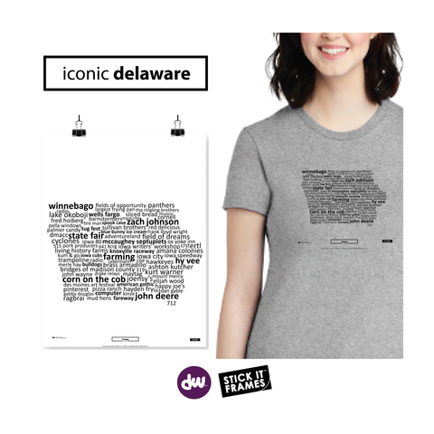 Iconic Iowa - All Products (Shirt, Art, Frames (R))