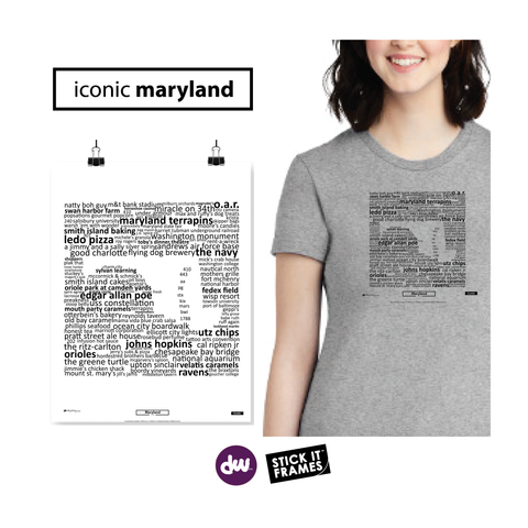 Iconic Maryland - All Products (Shirt, Art, Frames (R))